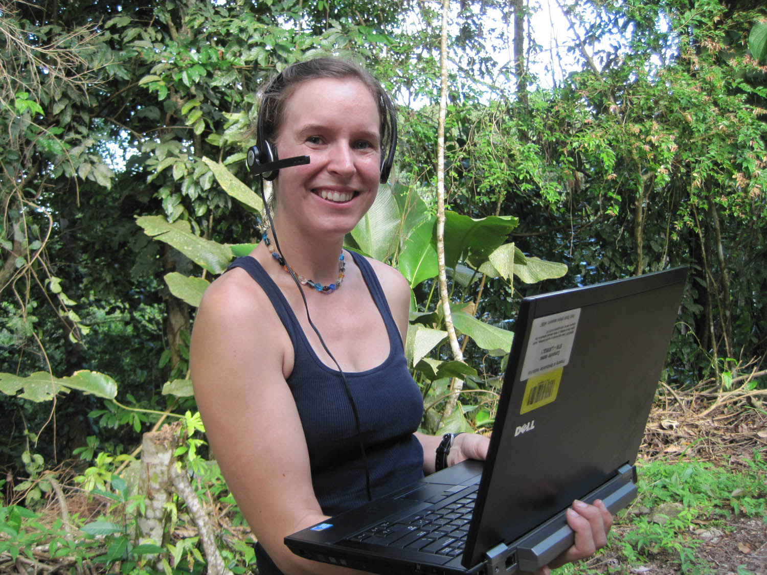 Students videoconference with scientists in Panama jungle