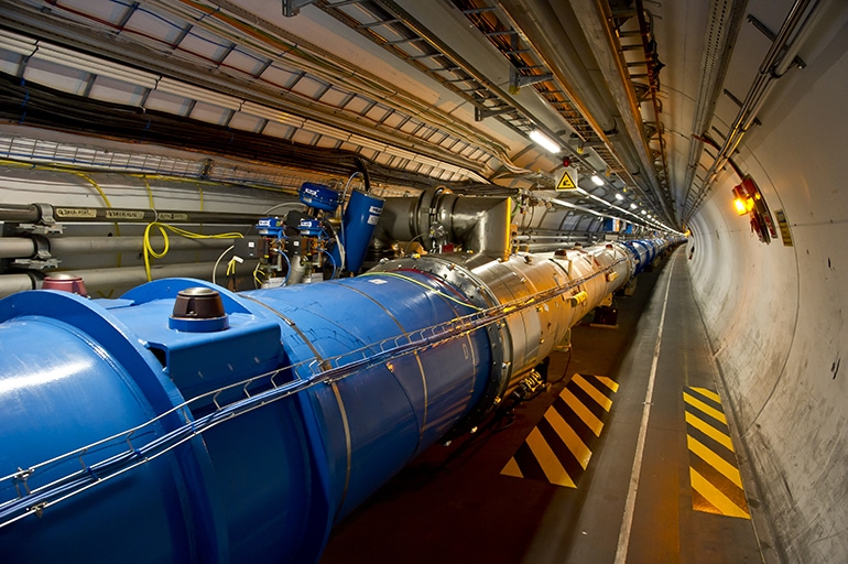 Large Hadron Collider Tunnel at CERN