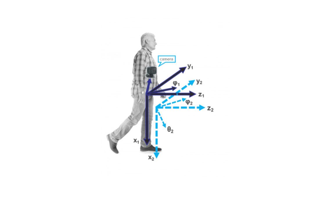 a man walking tall